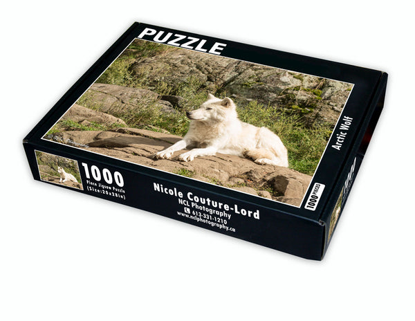 Puzzle - Arctic Wolf - Puzzle by Nicole Couture-Lord - Martello Alley