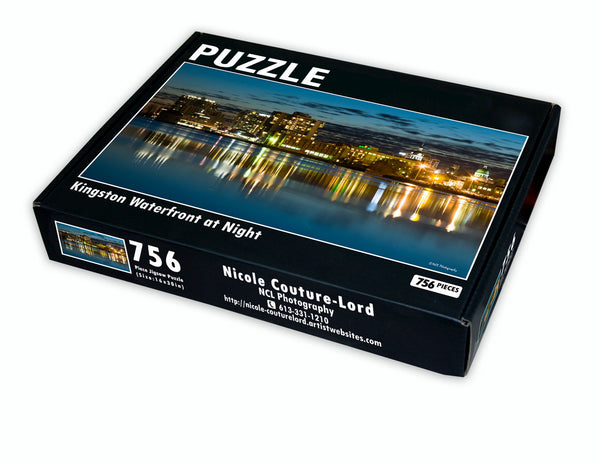 Puzzle - Kingston waterfront at night - Puzzle by Nicole Couture-Lord - Martello Alley