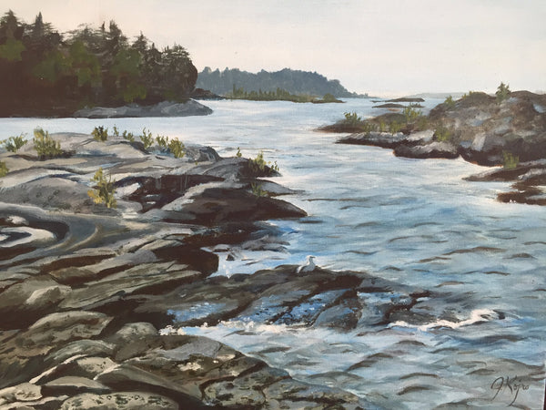 Tobermory Rocks and Water - Original Julie Kojro