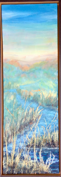 Wetlands #21 - painting by Carla Miedema - Martello Alley