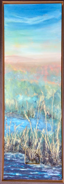 Wetlands #22 - painting by Carla Miedema - Martello Alley