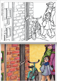 "Colouring Page ""Peeking into Martello Alley"" by Everdello (Joanne Stanbridge) - Digital Download by Everdello (Joanne Stanbridge) - Martello Alley"
