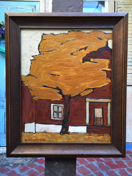 House with Maple - Painting by David Dossett - Martello Alley