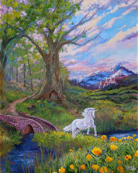 Unicorns Run Free - Print by Sharon Csernak - Martello Alley
