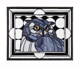Stained Glass - Owl (print) - Print by Alistair Morris - Martello Alley
