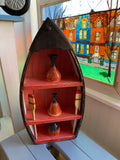 Decorative boats with oars - Folk art by Stephen Shay - Martello Alley