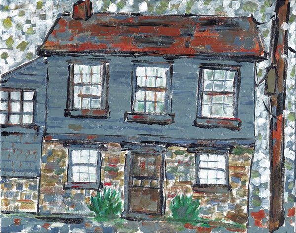 House On Richard Street In Portsmouth - Print by David Dossett - Martello Alley