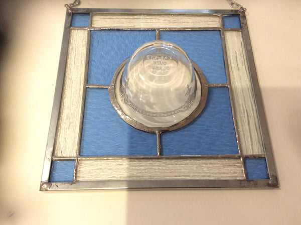 Vintage Fire King  Custard Dish in Pale Blue Stained Glass -  by Martello Alley - Martello Alley