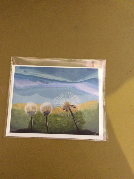 Dandelion dreams - Cards by Annette Bruneau - Martello Alley