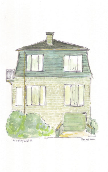 10 Collingwood St - original watercolour