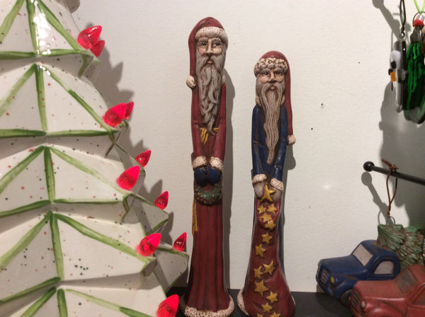 Ceramic skinny santa -  by Martello Alley - Martello Alley