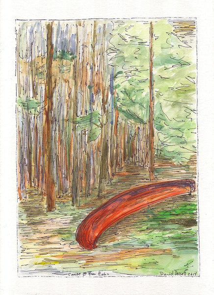 Canoe At Bon Echo - Print by David Dossett - Martello Alley