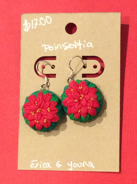 Earrings Poinsettia