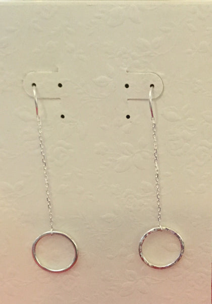 E17 SS hammered circles earrings - Jewellery by Martello Alley - Martello Alley