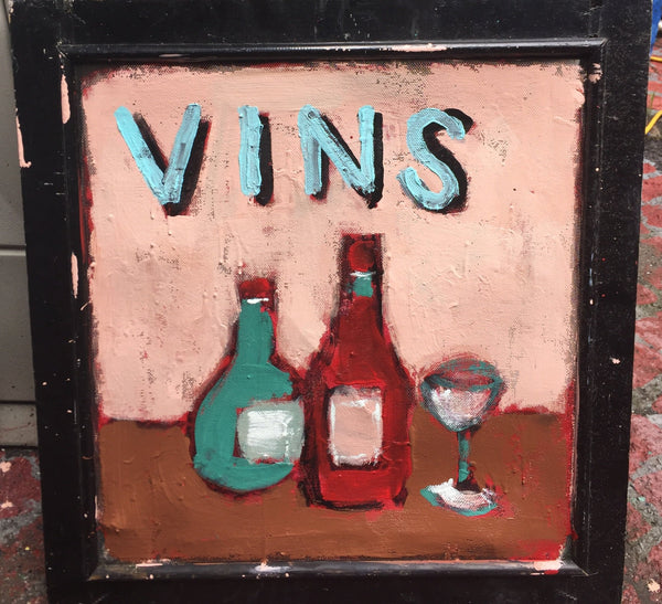 Vins - outdoor latex painting on screen
