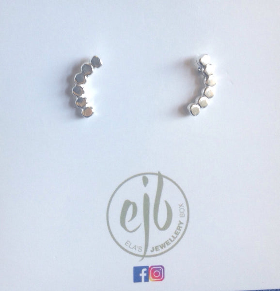 E56 SS Ear climbers - Jewellery by Martello Alley - Martello Alley