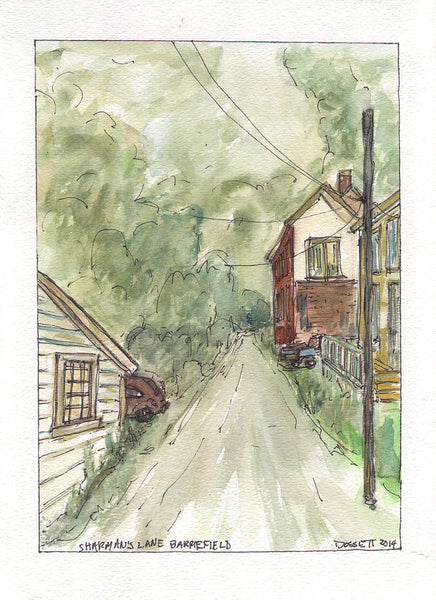 Sharman's Lane - Print by David Dossett - Martello Alley