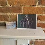 Metal trees greeting card - Greeting card by Ron Wettlaufer - Martello Alley