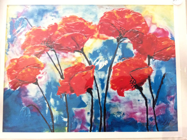 Poppies - Print 8 x 10 by Cathie Hamilton - Martello Alley