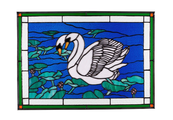 Stained Glass - White Swan (print)