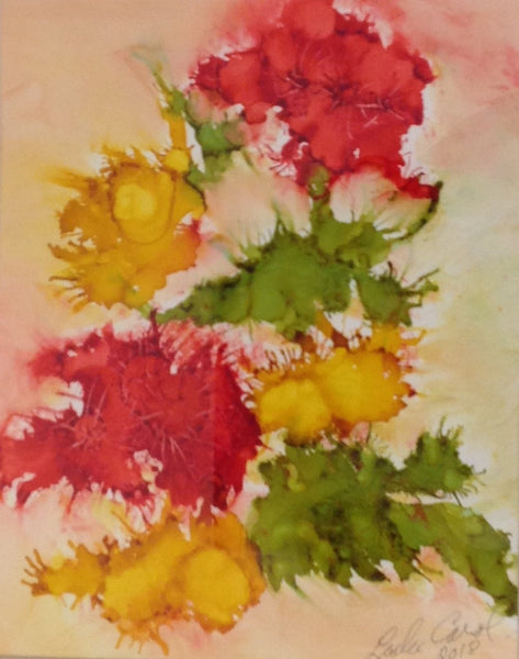 Blush of Spring I - Alcohol Ink by Leslie Welfare - Martello Alley