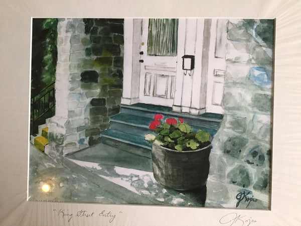 King Street Entry - matted print