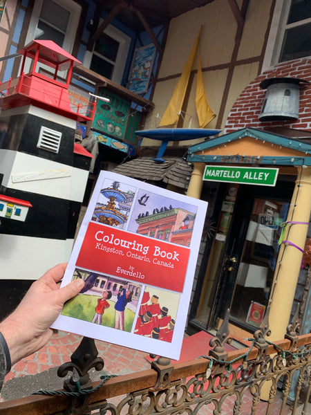 Colouring Book Kingston Ontario Canada by Everdello - Colouring book by Everdello (Joanne Stanbridge) - Martello Alley