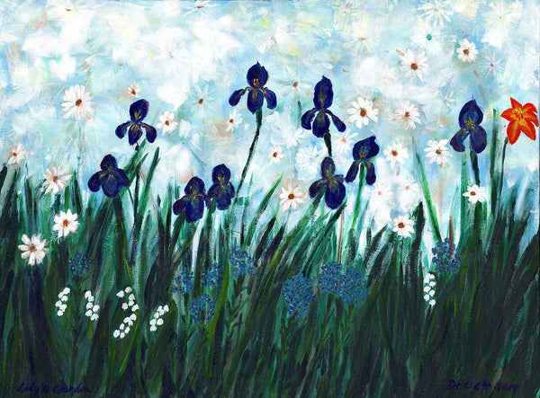 Lily's Garden - Print by David Dossett - Martello Alley