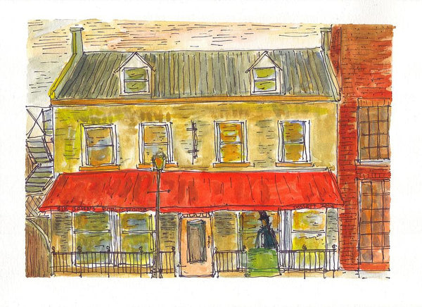 Sir John's Public House - Print by David Dossett - Martello Alley