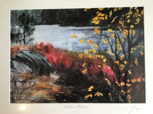 Autumn River - large matted print