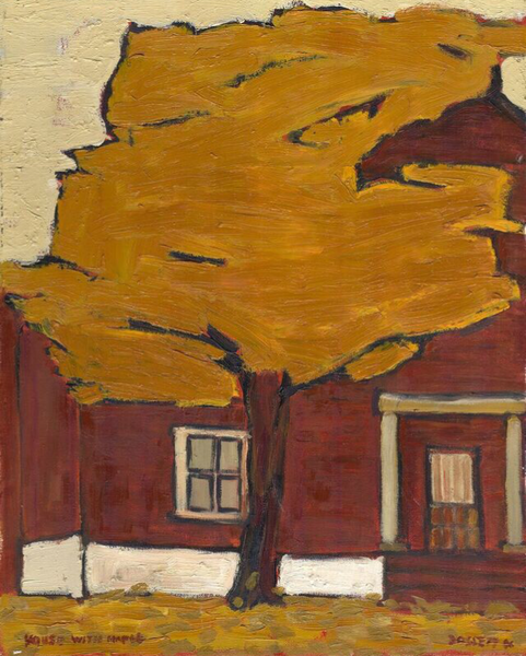 House with Maple print - Painting by David Dossett - Martello Alley