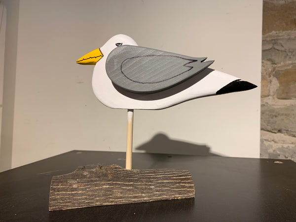 Seagull on driftwood - carving by Martello Alley - Martello Alley