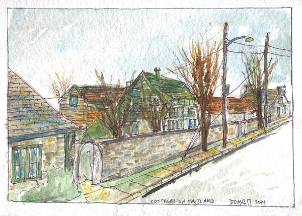Cottages On Maitland - Print by David Dossett - Martello Alley