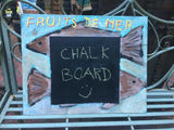 Fruits de mer chalk board