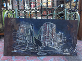 In the City - painting on steel - Painting by Martello Alley - Martello Alley
