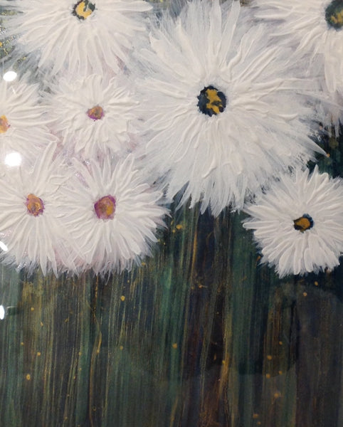 Daisies - Alcohol Ink by Leslie Welfare - Martello Alley