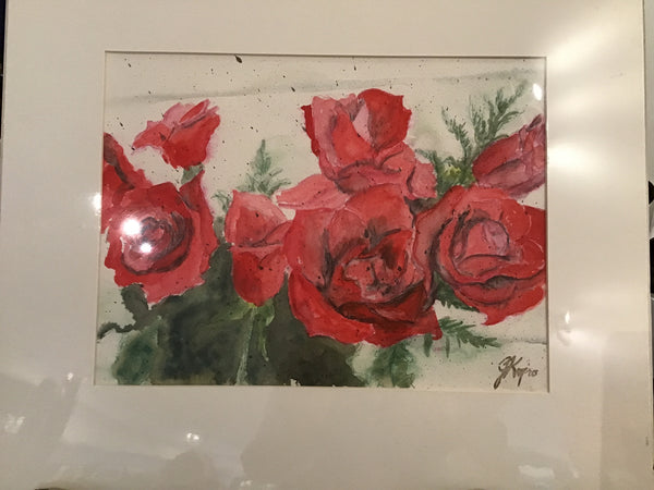 Roses - Original Watercolour Julie Kojro
