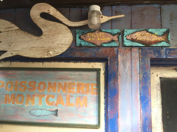 Poissonnerie Montcalm vintage sign -  by David Dossett - Martello Alley