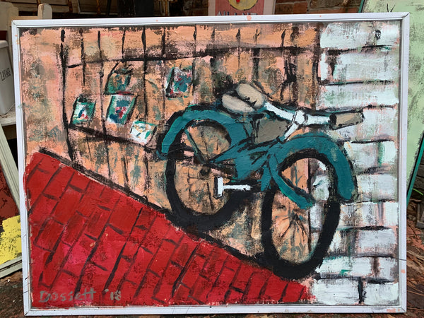 Bicycle in the Alley - Outdoor art - screen by David Dossett - Martello Alley