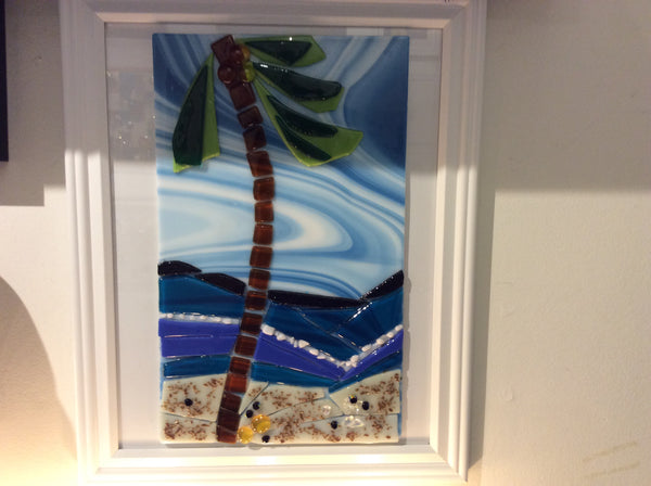 Fused Glass- Palm Tree - Fused glass by Annette Bruneau - Martello Alley