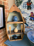 Wooden Rowboat - Folk art by Stephen Shay - Martello Alley