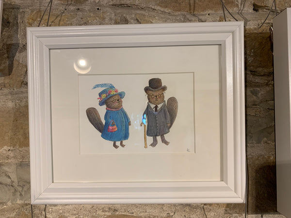 Mr & Mrs Fancy Beaver - Painting by Heidi Larkman - Martello Alley