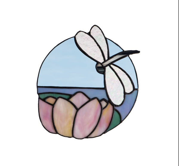 Stained Glass - Dragonfly (print) - Print by Alistair Morris - Martello Alley