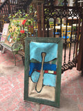 Canoe and paddle - Outdoor art - screen by David Dossett - Martello Alley