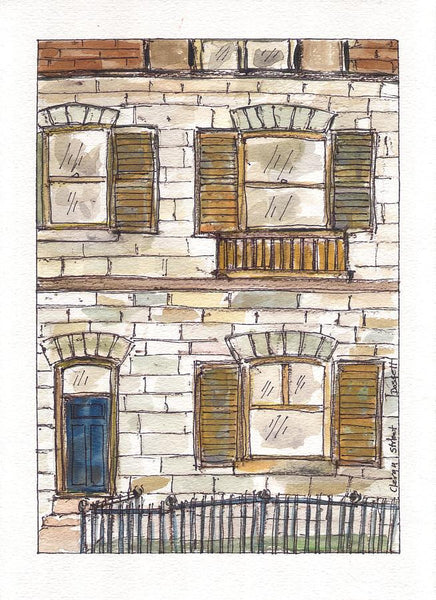Clergy Street - Print by David Dossett - Martello Alley