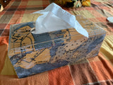 Nautical Chart Tissue Box