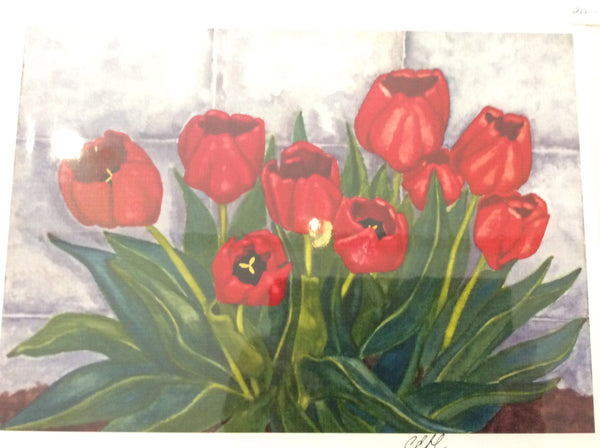 Red Tulips - Print 8x10 by Cathie Hamilton - Martello Alley