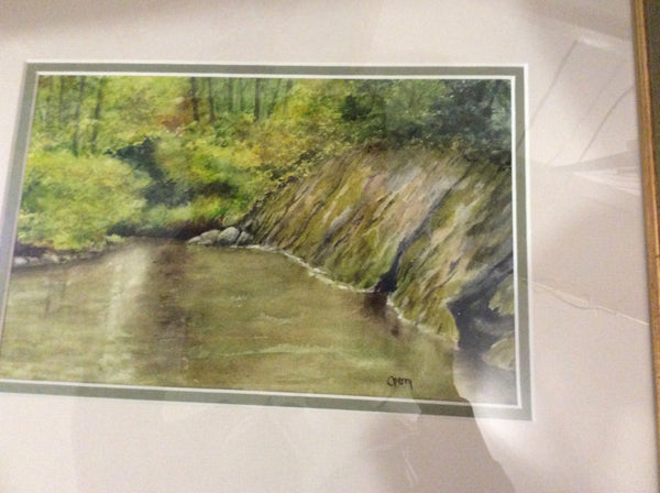 Green Pool - Watercolour original by Martello Alley - Martello Alley