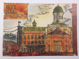 Panel of City Hall Kingston Ontario - Print by David Dossett - Martello Alley