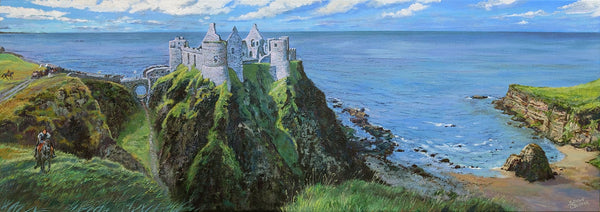 Reclamation of the Dunluce - Original acrylic by Sharon Csernak - Martello Alley